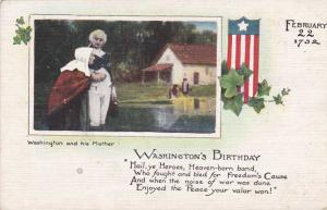 President Washington's Brithday with His Mother - DB