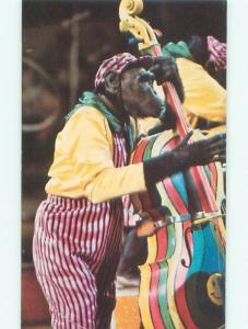 Pre-1980 Postcard Ad RINGLING BROS. AND BARNUM & BAILEY CIRCUS MONKEY AC7388