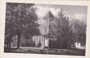 Michigan Dryden Methodist Church 1952 Real Photo