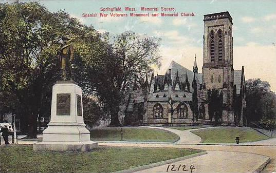 Memorial Square, Spanish War Veterans Monument and Memorial Church, Springfie...