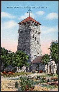 Alabama ~ Bunker Tower Mt. Cheaha State Park near TALLADEGA Divided Back