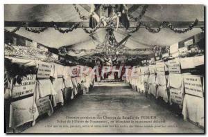 Old Postcard provisional Ossuary Verdun battlefields