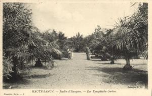 CPA Francais Congo Afrique - Jardin d'Européen (86645)