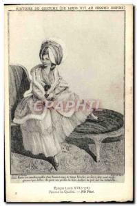 Old Postcard History of Costume Louis XVI quality Female