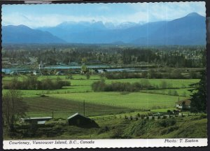 British Columbia View of COURTENAY Central VANCOUVER ISLAND - Cont'l 1980s-1990s