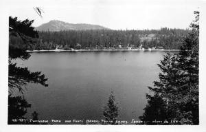 Coeur d'Alene-Rathdrum Idaho~Twin Lakes-Twinlow Park~Beach~1940s RPPC