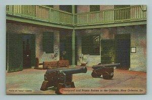 Courtyard Prison Rooms Cabildo Canons New Orleans Louisiana LA Postcard