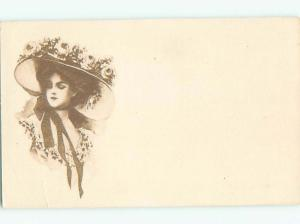 Divided-Back PRETTY WOMAN Risque Interest Postcard AA8018