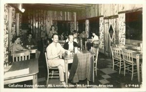 Arizona Catalina Mt Lemmon Inn interior 1940s RPPC Photo #6-Y469 Postcard 7858