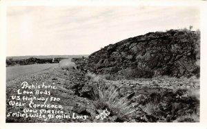 LP05  Carrizozo New Mexico Postcard RPPC Prehistoric Lava Beds