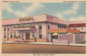 FORT LAUDERDALE, Florida, 1930-40s; Brown's Good Food
