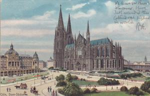 COLN, North Rine-Westphalia, Germany, 1900-1910's; Dom-Sudseite, Horse Carriages