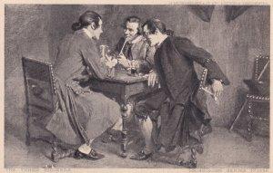 The Three Smokers Antique Smoking Postcard