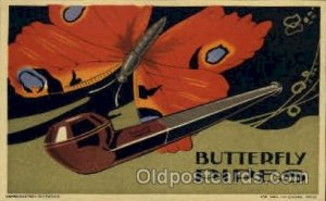 Butterfly Pipes Advertising Postcard Post Card Unused