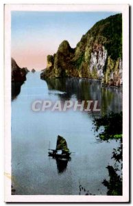 Postcard Old North Vietnam Halong Bay View from the cave of surprise