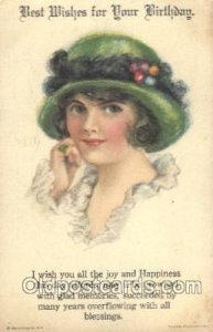 Alice Luella Fidler (USA) Artist Signed Postcard Postcards American Girl No. ...