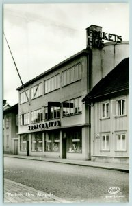 Alingsås CE~Close Närbild Kooperativa~Folkets Hus*~Community House~RPPC 1931
