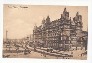 UK England Liverpool Lime Street North Western Railway Hotel Postcard Vintage