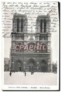 Old Postcard Paris church Notre Dame Collection Diary