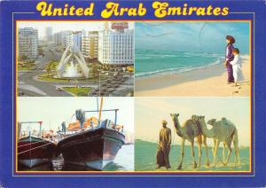 B95724 united arab emirates camel ship bateaux dubai
