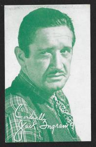 ARCADE CARD Cowboy Entertainer Jack Ingram