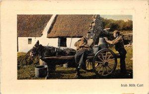IRELAND Irish Milk Cart 1911 Postcard Blanchester Ohio Cancel