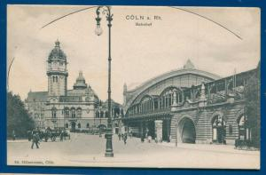 Koln a Rh Cologne Bahnhof Railway Train Station Railroad Postcard Ca Germany