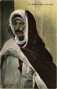 CPA Lehnert & Landrock 427 Scenes et Types, Un arabe TUNISIE (873593)