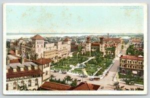 St Augustine Florida~Bird's Eye View @ Ponce de Leon Hotel~1907 Detroit Pub Co