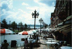 Market Square Saint John NB New Brunswick Coke Umbrellas Unused Postcard C4