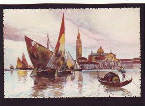 P1503 vintage art unused beautiful venezia-isola di s. giorgio venice italy