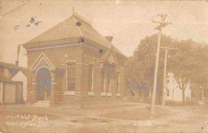 Harrignton Delaware First National Bank Real Photo Vintage Postcard AA7489