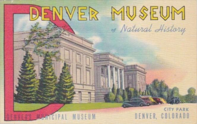 Colorado Denver Museum Of Natural History City Park Curteich