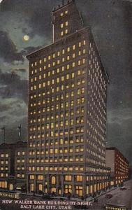New Walker Bank Building By Night Salt Lake City Utah