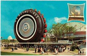 US Royal Tires Uniroyal Giant Tire Ferris Wheel New York World's Fair Postcard