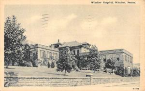 Windber Pennsylvania Hospital Street View Antique Postcard K90388