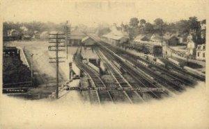 Railroad Station, Norwalk, Connecticut CT, USA Railroad Train Depot Unused