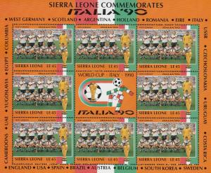 West Germany Football World Cup Italia 1990 Rare Full Sheet Block Of Limited ...