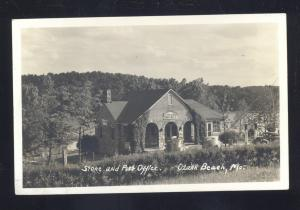 RPPC OZARK BEACH MISSOURI STONE POST OFFICE VINTAGE MO. REAL PHOTO POSTCARD