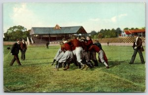 Sports~Football Play~Pile Up~Coaches Come to Sort Out~Stands~IPCC #185-1~1908 PC