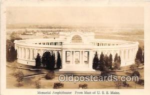 Real Photo - Memorial Amphitheater USS Maine Postcard Post Card USS Maine Rea...