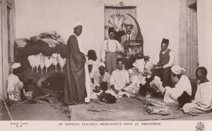 RP: OMDURHAM , Sudan , 1910-30s ; Ostrich Feather Merchants Shop