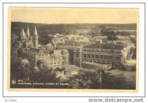 Panorama, Kursaal, Casino et Eglise, Spa, Belgium, 1934