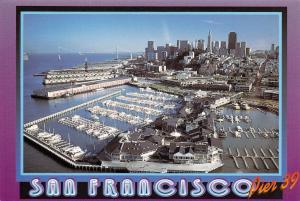 Postcard 1995 San Francisco, Pier 39, California, USA, United States, J77