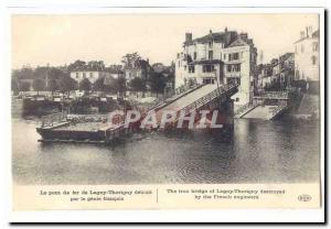 Lagny Thorigny Old Postcard fere The bridge of Lagny Thorigny destroyed by th...