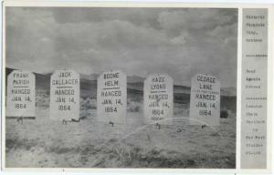 RPPC of Hanged Road Agent Graves Virginia City, Montana, MT