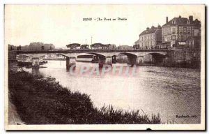 Old Postcard Sens Pont au Diable