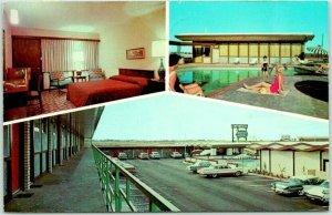 Greenville, Texas Postcard CONTINENTAL MOTOR HOTEL Highway 30 Roadside 1968