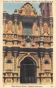 US3341 Portada de San Francisco Arquitectura Colonial, La Paz Bolivia Church