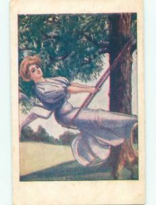 Divided-Back PRETTY WOMAN Risque Interest Postcard AA8487